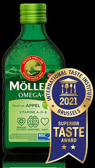 Möller's Omega-3 Apple levertraan met de beste smaak